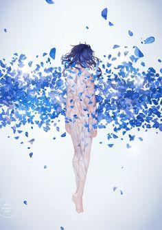 3 days march: a portfolio of illustration and more by Loika (Yan Qin Weng). Anime Art Girl, Manga Art, Anime Crying, Lolis Anime, Anime Poses, Inspiration Art, Foto Art, Autumn Art, Pretty Art