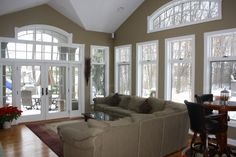 Wonderful Family Room Additions On Interior With Family Room Addition Dream Living Rooms, Home, Family Room Addition, Family Room, Great Rooms, Pretty Room, Sunroom Designs, New Homes, Home Renovation