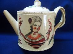 Rare 18th Cent. Leeds Creamware Tea-Pot A/F 4.5 inches high