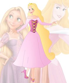 A new series in which I mix 2 disney princesses into 1 This is a mix of Aurora and Rapunzel, her name is Paula Hope you like her Other combinations:  Anna + Ariel : willemijn199...