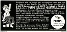 Original-Werbung/ Anzeige 1966 - POMPS BANANENBREI - CUXHAVEN - Ca. 155 X 75 Mm - Werbung