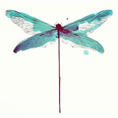 We are guilty of loving his MINImalist art ♡ conrad roset ♡ Tattoo Aquarelle, Aquarell Tattoo, Dragonfly Tattoo Design, Dragonfly Art, Watercolor Dragonfly Tattoo, Watercolor Tattoos, Insect Art, Skin Art, Watercolor Paintings