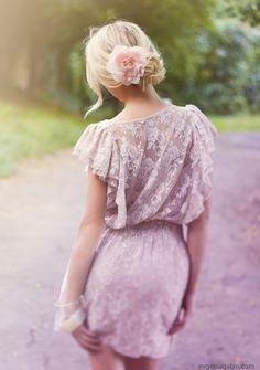 pink lace dress | Tumblr