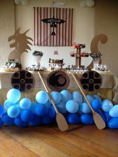 FESTA DRAGÃO ou Viking. This for a game instead of the dragon? I like the balloons.