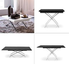 Convertible Coffee Table - is it That Good? : Coffee Table Convertible To Dining. Coffee table convertible to dining. Lack Coffee Table, Coffee Table To Dining Table, Coffee Table Size, Garden Coffee Table, Glass Dining Table, Dining Room, Table For Small Space, Small Spaces, Convertible Coffee Table