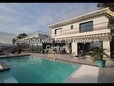 HSUD045 - Holiday villa Cannes: On the hill of Cannes la Bocca, 1,8 km from the sea and from the beach, in the residential area, beautiful modern villa vith panoramic sea view situated on the plot of 1700m². Private pool (8m x 4m - Depth 80/200 - Alarm). Terraces of 140m² with garden furniture and sun loungers. BBQ. Baby foot. Ping-pong. Garage for 4 cars.   http://www.homesud.fr/location-vacances-villa-CANNES-fiche-0045-3.html