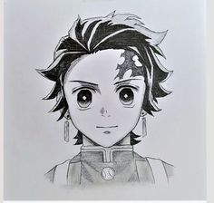how to draw tanjiro step by step with pencil for beginners easily - tanjiro drawing