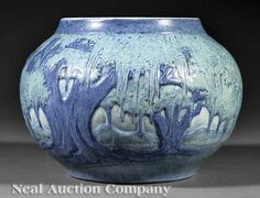 Newcomb College Art Pottery Matte Glaze Vase, 1929, decorated by Anna Frances Simpson