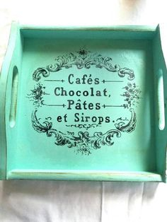 Hey, I found this really awesome Etsy listing at https://www.etsy.com/listing/578911833/shabby-chic-wooden-tray-cafes-chocolat