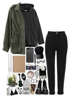 """awake, wide eyed im screaming at me // rtd"" by bayley-the-weird-fangirl ❤ liked on Polyvore featuring Topshop, Dr. Martens, NARS Cosmetics, Retrò, Muji, Threshold, Omorovicza, adidas Originals, Bare Escentuals and Ilia"