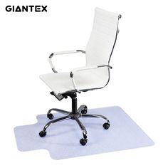 GIANTEX 90x120cm PVC Home Office Carpet Non slip Protective Chair Floor Mat HW47674