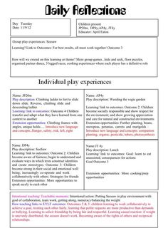 reflective journals templates