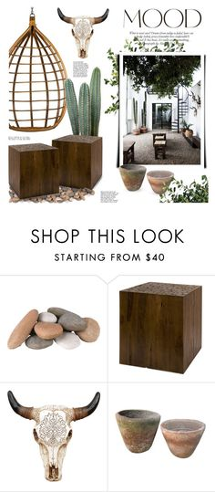"""""""mexican courtyard"""" by jesuisunlapin on Polyvore featuring interior, interiors, interior design, home, home decor, interior decorating, ANNA, GAS Jeans and Uttermost"""