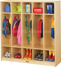 Open Kid's Coat Locker Groups with Double Cubbies for sale! (Unassembled) These…