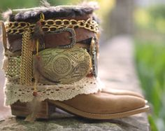 Hello and welcome to my boot design shop where I can make your design come to life! I am the original boot remaker here on Etsy since 2012! Please read on to see everything about the design process from ordering to my creating your vision!!!  CUSTOM ORDER: (Photos in the listing are representations of boots I have made in the past and not the actual boots you will receive). This is a design process that takes time and each pair is an original.  The process of a custom design: 1) You place…