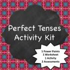 This kit includes a Power Point presentation that explains the use and formation of the perfect tenses, a walkabout activity where students use int...