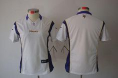 Nike Vikings Blank White Women's Embroidered NFL Limited Jersey