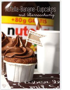 dreierlei liebelei – blog für schönes: Nutella-Banane-Cupcakes (mit Überraschung)