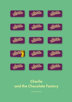 Charlie and the Chocolate Factory (2005) ~ Minimal Movie Poster by Daria Shubina #amusementphile