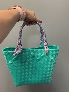 Handwoven from recyclable plastic Regions Of The Philippines, National Flag, Market Bag, Handmade Bags, Innovation Design, Straw Bag, Hand Weaving, Plastic