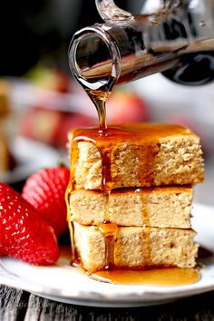 Pancake Maple Blondies http://cafedelites.com