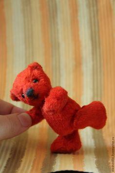 Мишка Рыжик - красный мишка,рыжий мишка,миник,мини мишка,мини мишка Тедди
