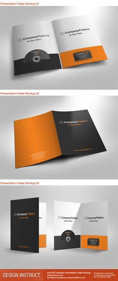 Company Folder Mockups