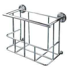 Chrome Magazine Rack Wall Mounted Minimalist Signature Hardware