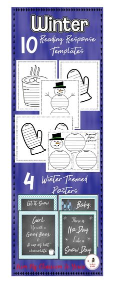 Writing after reading is so important for students. It strengthens both comprehension and writing skills. Recalling the main idea, cause and effect, problem and solution, sequencing beginning, middle, end, and summarizing are ALL essential skills to practice. Use these winter reading templates after any type of reading. Get 10 winter reading response templates and 4 winter themed posters at For The Love of Teachers Shop. #writing #tpt #winter