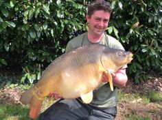 Here's a 35lbs 8oz mirror caught in April 2014 by Trig on his second carp fishing holidays at Beausoleil www.frenchcarpandcats.com