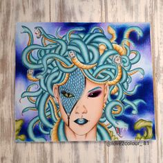 Medusa from fantasia   By Nicolas f.chandrawienata #adultcolouring #fantasia #adultcolouringbook
