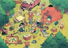 With Animal Crossing: New Horizons less than two weeks away, we can't help but ogle over these amazing pieces of fan art as the hype builds! Animal Crossing Fan Art, Animal Crossing Memes, Animal Crossing Villagers, Animal Crossing Pocket Camp, Cute Illustration, Digital Illustration, Fossil Hunting, Ac New Leaf, Campsite