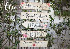 Jogo de Placas Indicativas - Floral