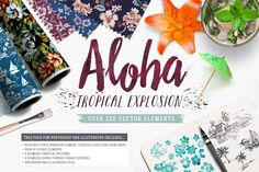 Aloha! Tropical Explosion Collection by SaultDesign on Creative Market