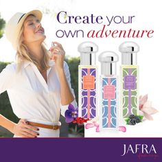 Blend these fragrances together to create your own unique fragrance. #JAFRA #Blend #FreedomToBeYou junta las 3 fragancias para crear tu propia fragancia. #LaLibertadDeSerTu www.myjafra.com/angelicaavila