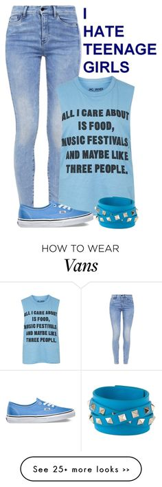 """๑ vans ๑"" by nika-love on Polyvore featuring G-Star, Topshop, Vans and Valentino"
