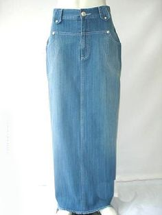 Curve Long Jean Skirt