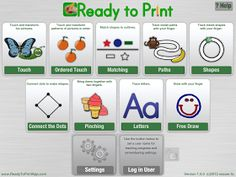 Notes from a Pediatric Occupational Therapist: Ready to Print App