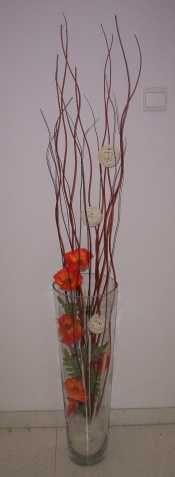 Skleněná vysoká váza