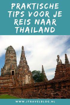 Ik heb praktische tips voor je reis naar Thailand voor op een rijtje gezet, zoals het vervoer naar en in Thailand, eten & drinken, klimaat, grensdocumenten, geldzaken, accommodaties en nog veel meer. Lees je mee? #thailand #praktischetips #praktischeinformatie #jtravel #jtravelblog