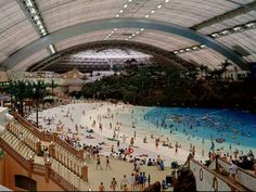Indoor man made beach.....JAPAN