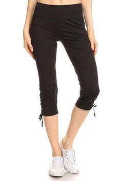 Women's Activewear Capri Pants Black Workout pants Fitness Pants Yoga Black Capri Pants