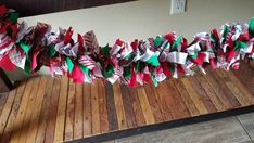 Fall Garland, Christmas Tree Garland, Christmas Banners, Plaid Christmas, Rustic Christmas, Christmas Decorations, Christmas Cookies, Craft Room Decor, Fabric Garland