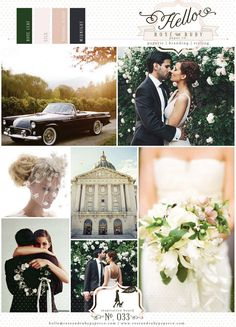 Retro black & pink blush wedding... Wedding ideas for brides, grooms, parents & planners ... https://itunes.apple.com/us/app/the-gold-wedding-planner/id498112599?ls=1=8 … plus how to organise an entire wedding, without overspending ♥ The Gold Wedding Planner iPhone App ♥