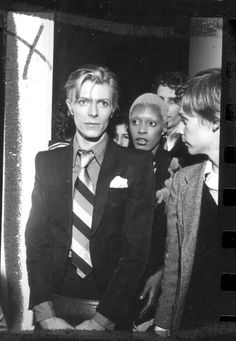 David Bowie and Ava Cherry