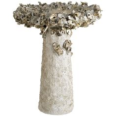 This unique birdbath combines uncommon materials and a whimsical design to transform the humble birdbath into a functioning outdoor art piece. The Hayes Parker Collection. Features: - Finish: Natural Oyster Shells, Oyster Shell Crafts, Small Garden Design, Accent Decor, Outdoor Furniture Design, Accent Furniture, Upscale Furniture, Lawn Furniture, Luxury Furniture