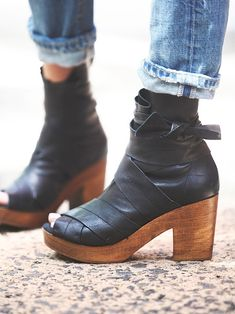 Free People Spire Wrap Clog. I got these in the stone color. Really wish they weren't sold out in black. :(