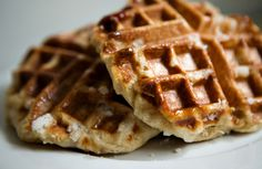 Liege Waffles.  Made with pearl sugar, and very possibly the best Belgian waffles.  They're yeasty and delicious!