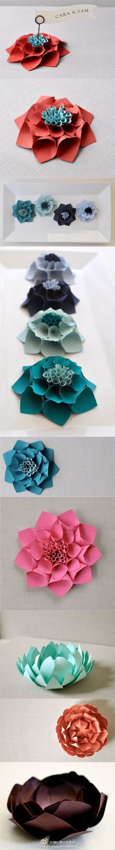 多样的立体纸花,怎么用都不错 (共9张图片, 大图请点链接: )Cool Flower Crafts , Paper Crafts for Teens , paper, craft, flower,wrap, gift, decor,blumen,basteln,bastelvorlage,tutorial diy, spring kids crafts, paper flowers,diy, bauble, ornament, decoration