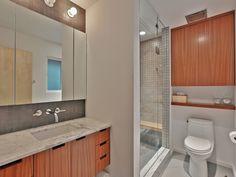 master bath Portland House, Master Bath, Bathroom Lighting, Vanity, Mirror, Furniture, Home Decor, Vanity Area, Homemade Home Decor